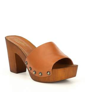 Ariat Unbridled Lennon Studded Leather Block Heel Mules