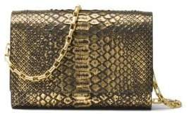 Michael Kors Yasmeen Metallic Clutch - BLACK - STYLE
