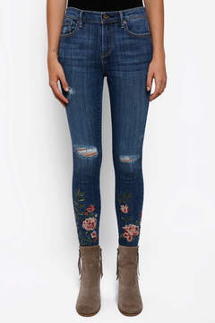 Driftwood Floral Embroidered Skinny