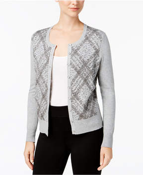 Charter Club Metallic Argyle Cardigan, Created for Macy's