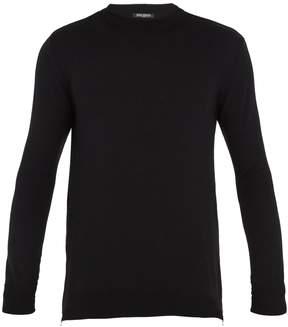 Balmain Zip-fastening wool-knit sweater