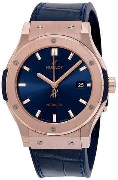 Hublot Classic Fusion Blue Sunray Dial 18k Rose Gold Automatic Men's Watch