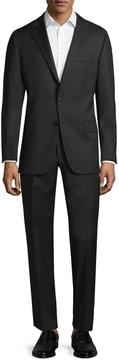 Hickey Freeman Men's Wool Solid Notch Lapel Suit