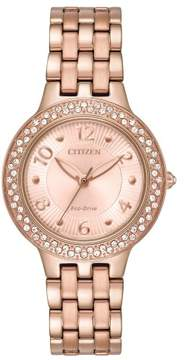 Citizen FE2083-58Q Silhouette Crystal Womens Watch Rose Gold 31mm Stainless Steel
