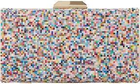 Dune Bonansa multi-coloured beaded clutch bag
