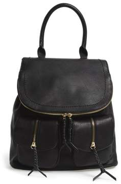 Sole Society Emery Faux Leather Backpack - Black