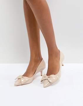 Dune London Kitten Heel Shoe with Bow