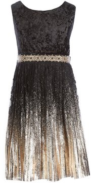 My Michelle Big Girls 7-16 Foil Ombre Pleated Dress