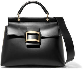 Roger Vivier Viv Cabas Small Leather Tote - Black