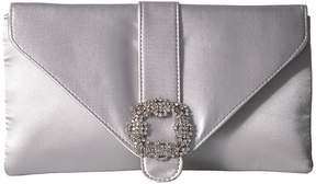 Jessica McClintock Riley Satin Envelope Clutch Clutch Handbags