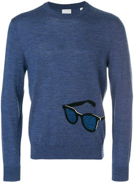 Paul Smith sunglasses embroidered sweater