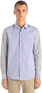 Loewe Patchwork Cotton Shirt W/ Poplin Stripes