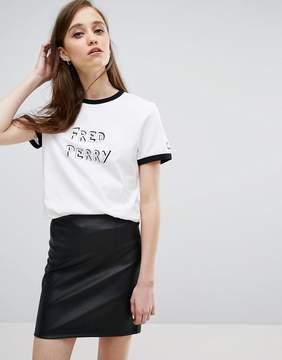 Fred Perry Bella Freud Logo T Shirt