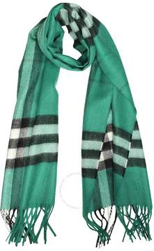 Burberry The Classic Cashmere Scarf in Check - Emerald Check