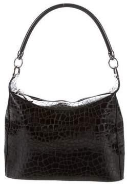 Stuart Weitzman Embossed Leather Shoulder Bag