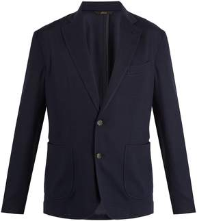 Brioni Notch-lapel silk-blend piqué blazer