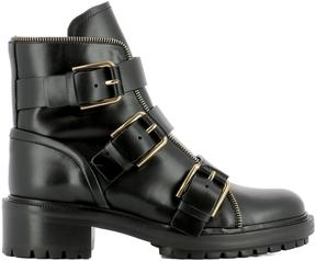 Balmain Black Leather Ankle Boots