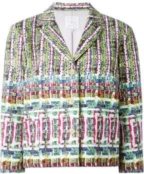 Stella Jean three-quarter sleeve boxy jacket