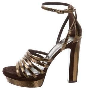 Tamara Mellon Supreme Metallic Platform Sandals