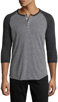 Alternative Apparel Men's Eco Jersey Baseball Henley Shirt