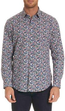 Robert Graham Varela Floral-Print Sport Shirt