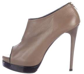 Ruthie Davis Peep-Toe Leather Booties