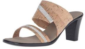 Onex Womens Avery Open Toe Casual Slide Sandals.