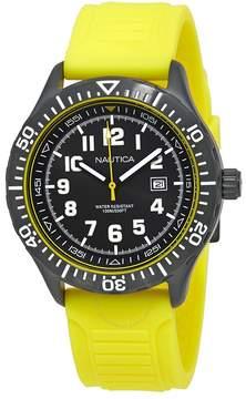 Nautica NSR 105 Black Dial Yellow Silicone Men's Watch
