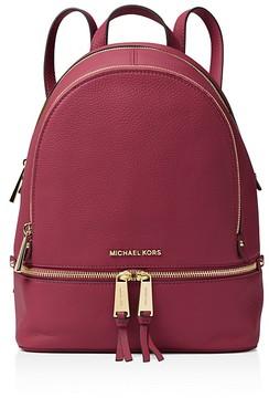 MICHAEL Michael Kors Small Rhea Zip Backpack - BLACK/GOLD - STYLE