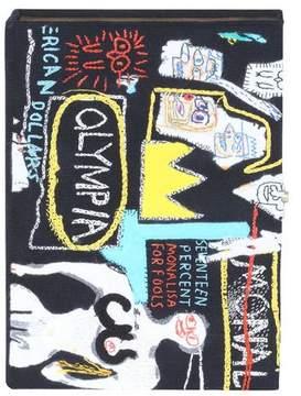 Olympia Le-Tan Basquiat Crown Hotel Artwork Book Clutch Bag