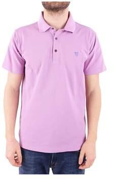 Trussardi Men's Pink Cotton Polo Shirt.