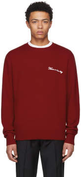 Rag & Bone Red Have A Nice Day Victor Pullover