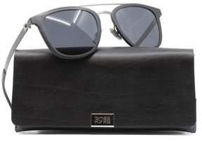 HUGO BOSS BOSS by Men's B0838s Square Sunglasses, Black Semi Matte Dark Ruthenium/Gray Blue, 52 mm