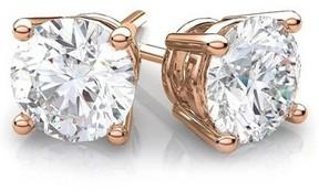 Alpha A A CZ 14kt Rose Gold Stud Earrings, 5mm