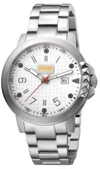 Just Cavalli Men's Rock Rock Quartz Silver Stainless Steel Bracelet Watch.