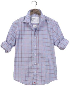 Frank And Eileen Mens Paul Limited Edition Grid Shirt With Heart