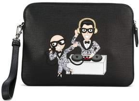 Dolce & Gabbana DJ patch clutch