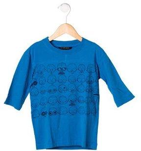 Little Marc Jacobs Boys' Face Print Short Sleeve Shirt
