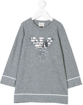 Armani Junior sequin logo dress