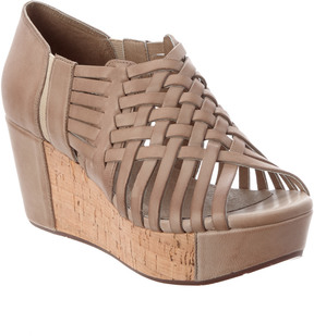 Chocolat Blu Web Leather Wedge