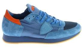 Philippe Model Men's Light Blue Synthetic Fibers Sneakers.
