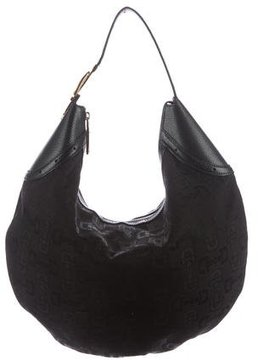 Gucci Canvas Crescent Hobo - BLACK - STYLE