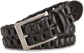 Daniel Cremieux Chain Braid Leather Belt