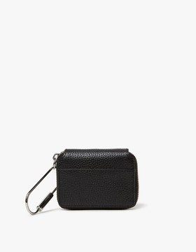 Pebble Leather Small Zip Wallet