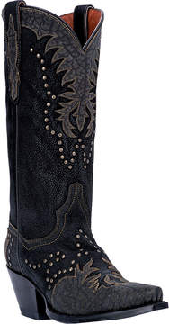 Dan Post Black Invy Leather Cowboy Boot - Women