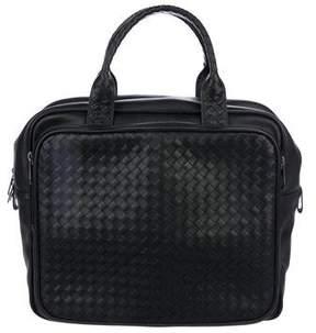Bottega Veneta Intrecciato-Trimmed Top Handle Bag
