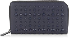 Jimmy Choo CARNABY Navy Leather Travel Wallet with Mixed Stars