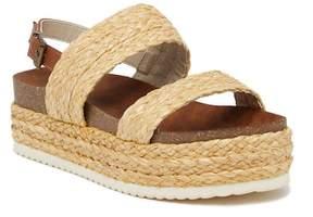 Mia Ava Raffia Platform Sandal