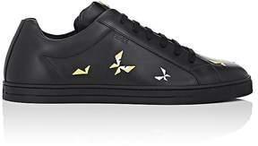 Fendi Men's Butterfleye-Embroidered Leather Sneakers