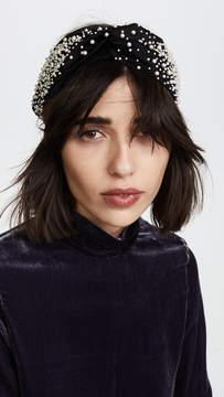 Jennifer Behr Imitation Pearl Encrusted Head Wrap